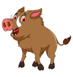 Wild boar cartoon for you design vector