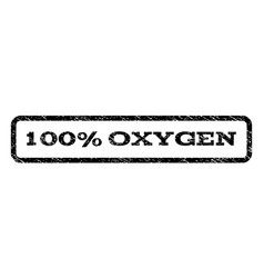 100 percent oxygen watermark stamp vector
