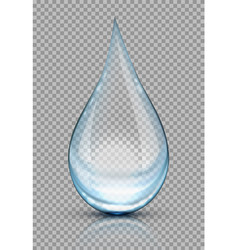 a drop water on transparent background vector image