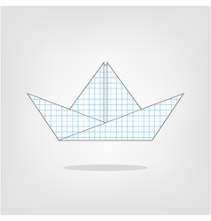 a paper boat on a background vector image