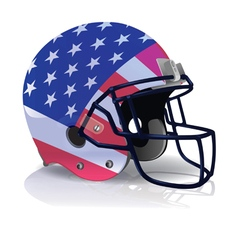 American Football Helmet with American Flag vector