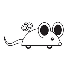 April fools day mouse thin line vector