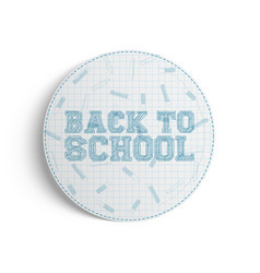 back to school realistic banner on white vector image