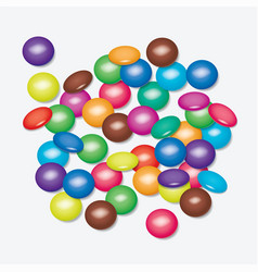 background of colorful candies vector image