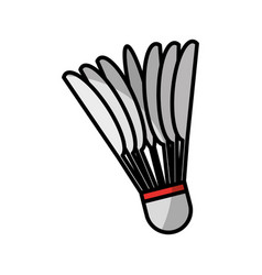 badminton ball isolated icon vector image