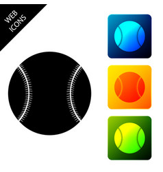 baseball ball icon isolated on white background vector image