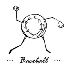 baseball game cartoon character of a vector image