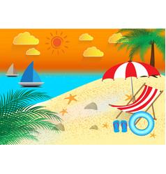 Beautiful summer holidays beach seashore vector