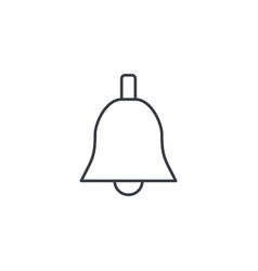 bell ringer thin line icon linear symbol vector image