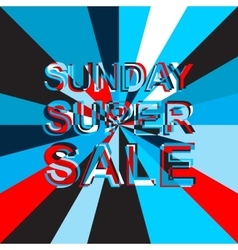 Big ice sale poster with SUNDAY SUPER SALE text vector image