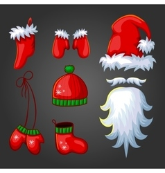 Big set of Cristmas elements vector image