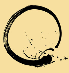 black brush stroke in the form of a circle vector image
