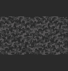 black camouflage pattern seamless template vector image