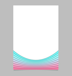 Blank brochure template from curves - flyer vector