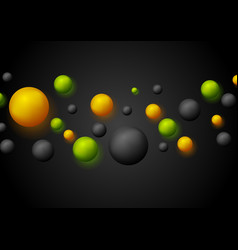 Bright retro 3d bubbles with luminous effect vector