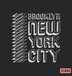 brooklyn new york city t-shirt print design vector image