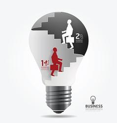 businessman up the Ladder paper light bulb vector image