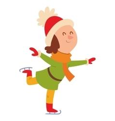 Christmas girl playing winter games vector image