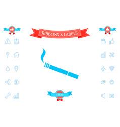 cigarette symbol icon vector image
