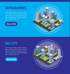 city landscape construction skyscrapers and high vector image