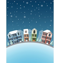 Cityscape winter3 vector