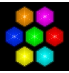Colorful bright gems vector