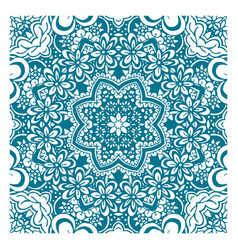 coloring book page with pattern mandala ethnic vector image