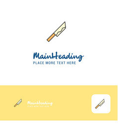 creative knife logo design flat color logo place vector image