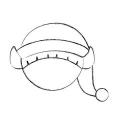 Cute little christmas boy elf vector