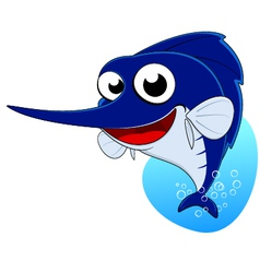 cute marlin fish sword fish vector image