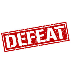 Defeat square grunge stamp vector