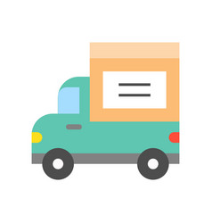 Delivery truck icon flat design shipping and vector