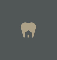 Dentist house logo design tooth home creative vector