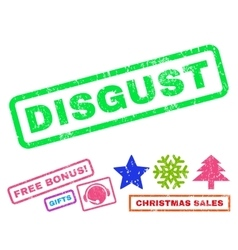 Disgust Rubber Stamp vector