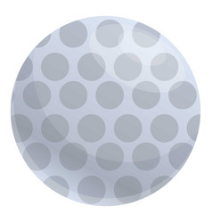 Dotted golf ball icon cartoon style vector