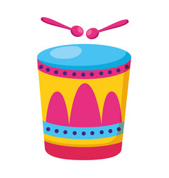 Drum with sticks music vector