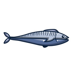 fish icon cartoon style vector image