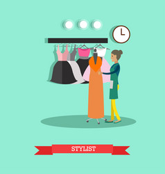 Flat style of stylist fashion vector
