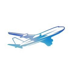 flying vintage color airplane vector image