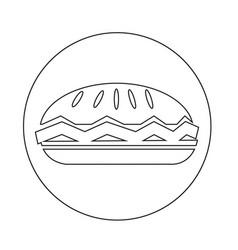 Food pie icon vector