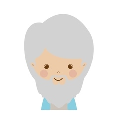 Front face wise man gaspar cartoon vector