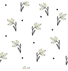 Hand drawn seamless pattern with berrie vector