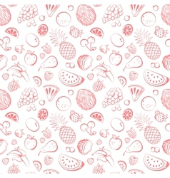 Hand drawn vintage fruit seamless vector