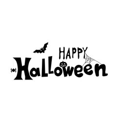 happy halloween text banner creative vector image