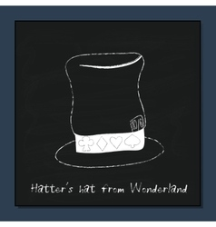 Hatter Hat from Alice Adventures in Wonderland vector image