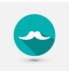 Hipster mustache minimal icon vector