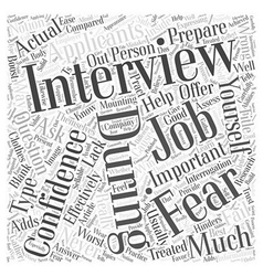 How To Win At Job Interviews Word Cloud Concept vector