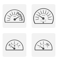 icon set with spidoietr temperature auto vector image