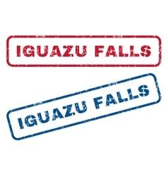 Iguazu Falls Rubber Stamps vector