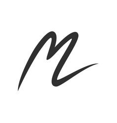 initial m stroke lettermark symbol design vector image